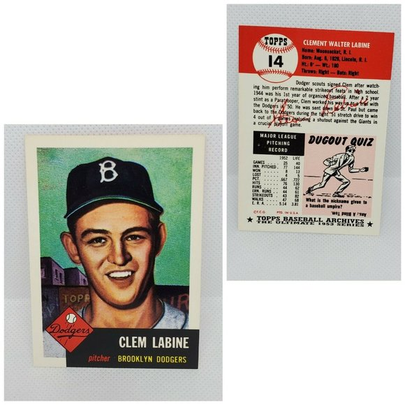Topps Archives Clem Labine #14 Baseball Card